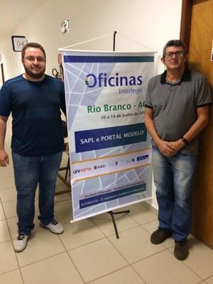 Felipe e Ebenésio representando a Câmara Municipal da Boca do Acre
