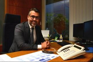 Coordenador Geral do Interlegis/ILB, Leonardo Gadelha. | Foto: Júlia Zouain/Interlegis/ILB..