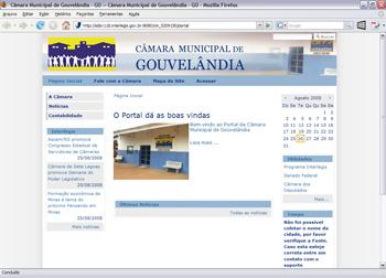 Interlegis hospeda Portal Modelo de Gouvelândia