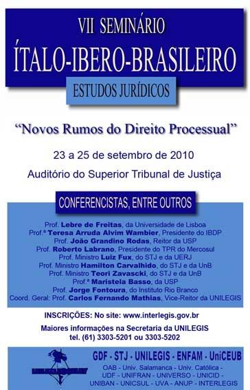 VII Seminário Ítalo-Ibero-Brasileiro de Estudos Jurídicos