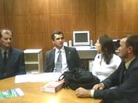 Vereadores de Novo Tiradentes/RS visitam a sede do Interlegis, em Brasília - 1º/12/2010