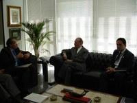 INSTITUCIONAL - Presidente Sarney reafirma apoio ao Interlegis, em encontro com representantes do BID
