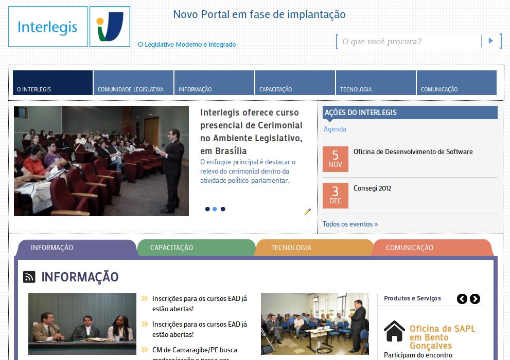 INTERLEGIS lança novo portal
