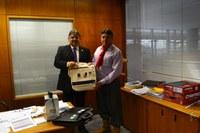 Presidente da Câmara de Coronel Bicaco visita o ILB