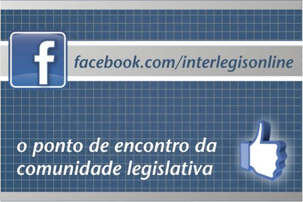 Facebook do Interlegis já está online.