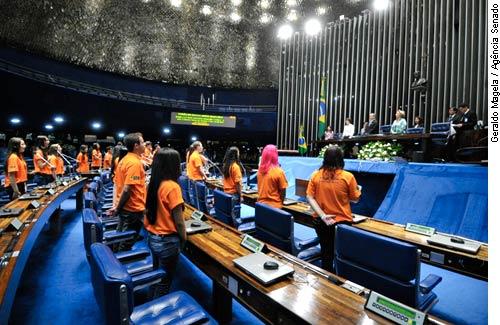 Após premiação, Jovens senadores iniciam os trabalhos de legislatura