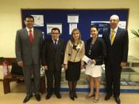 Diretores do parlamento do Paraguai visitam o ILB