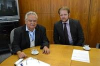 Procurador da Câmara de Cafeara vem a Brasília em busca de treinamento
