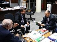 Presidente da Assembleia Legislativa do Mato Grosso do Sul busca parceria com Interlegis