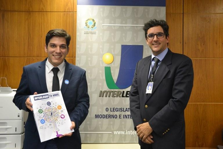 Primeiro-secretário da Câmara de Cedro (CE) vem ao ILB conhecer o Programa Interlegis