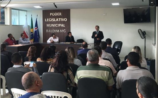 Câmaras da região metropolitana de BH vão a Baldim para Oficina Interlegis