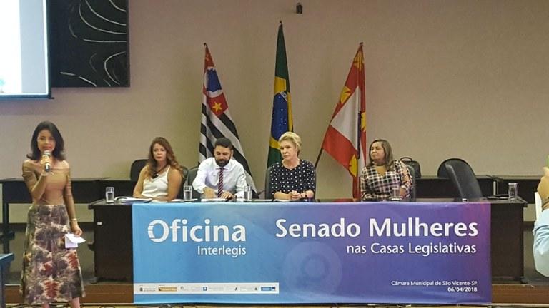 Questões femininas foram centro do debate em São Vicente (SP), em Oficina do Senado