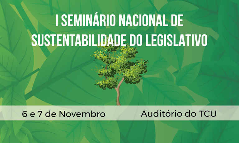 Seminário é uma iniciativa do Senado, Câmara dos Deputados e TCU