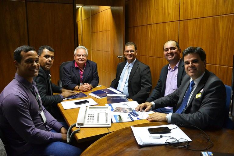 Representantes da Câmara de Nova Venécia (ES) visitam o Interlegis para solicitar o SPDO