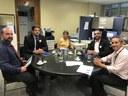 Comitiva de vereadores de Monte Alegre agenda treinamentos Interlegis