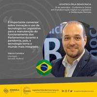 Diretor-executivo apresenta SAPL-R em evento digital com 23 parlamentos do mundo