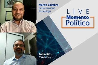 Diretor de empresa especializada em análise de dados, Fábio Rios foi o convidado da Live Momento Político desta semana.