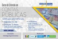 Inscrições abertas para o Curso de Extensão Contas Públicas no Brasil