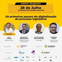Inscrições abertas para webinar sobre digitalização do Processo Legislativo