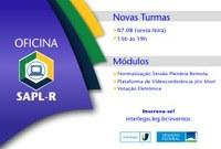 Vagas abertas para a próxima oficina online de capacitação para o uso do SAPL Remoto