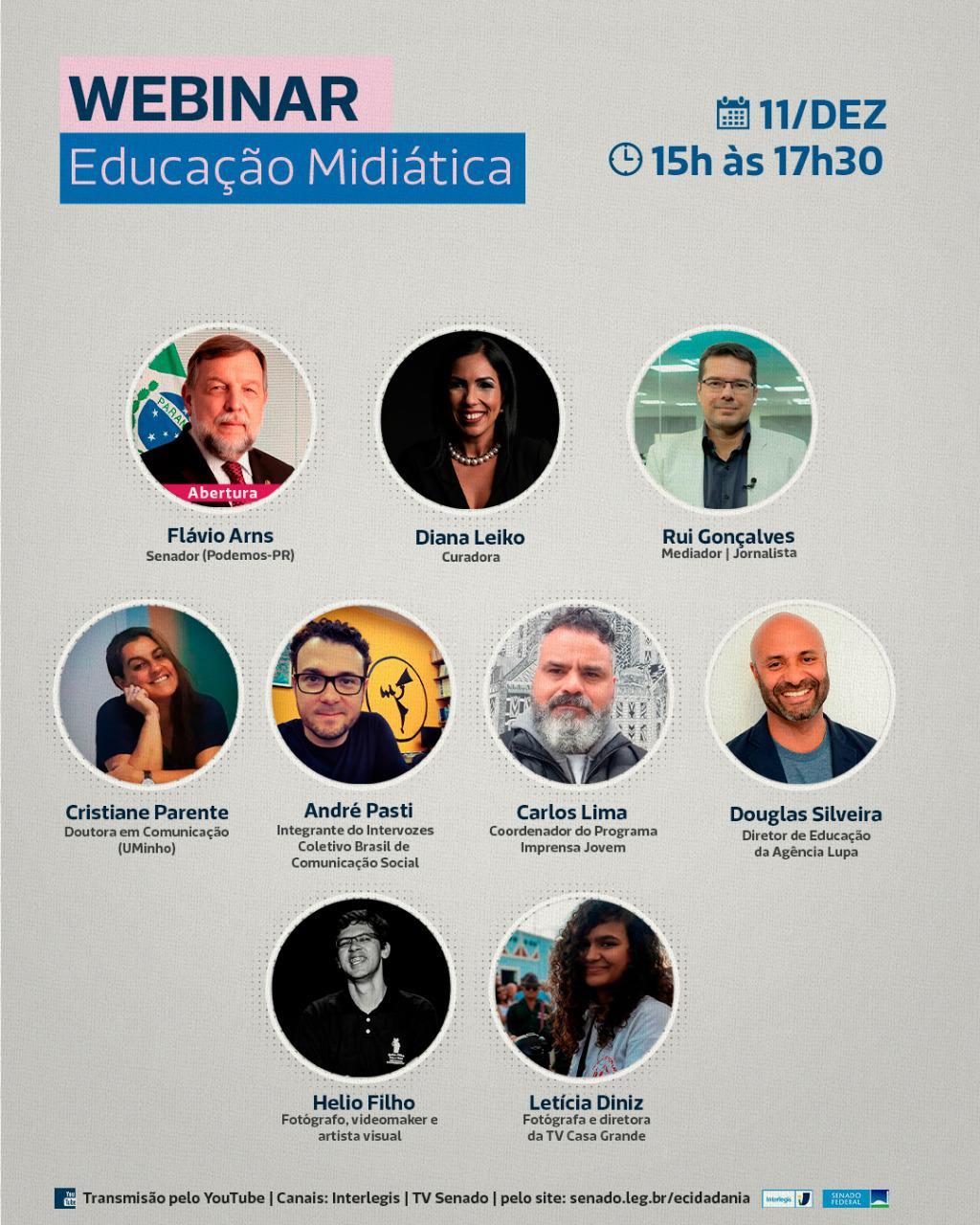 Interlegis promove Webinar sobre Educação Midiática
