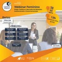 Interlegis realiza Webinar Feminino – Poder, Política e Mercado de Relações Institucionais e Governamentais