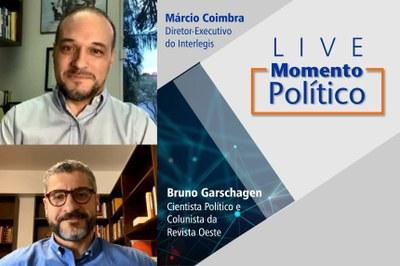 """Professor e escritor, Bruno Garschagen foi o sexto convidado da Live """"Momento Político"""" e falou sobre as principais correntes de pensamento presentes na política atual."""