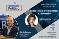 Momento Político: Série de Lives no Instagram completa um mês com debate sobre redes sociais e disseminação de Fake News