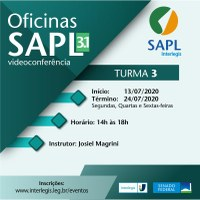 Oficina on-line de SAPL 3.1 vai capacitar nova turma