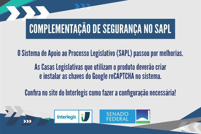 Complementação de segurança no SAPL
