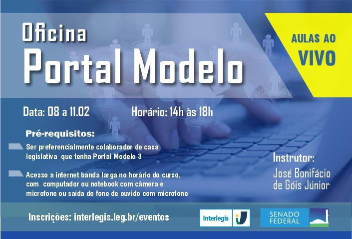 Matrículas abertas para a Oficina Interlegis Portal Modelo