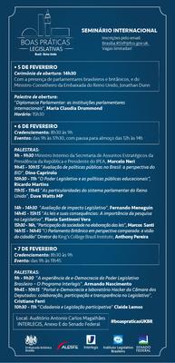 Seminário BOAS PRÁTICAS NO LEGISLATIVO - 5a7/02/2014